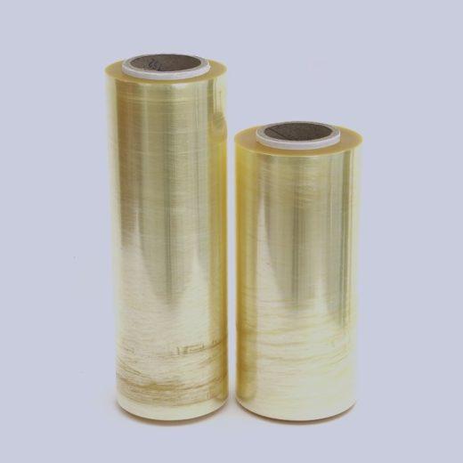 Dois rolos da linha esticável aparecem na vertical, um ao lado do outro.